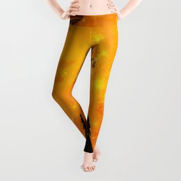 Fantasy women with carousel and horses Leggings