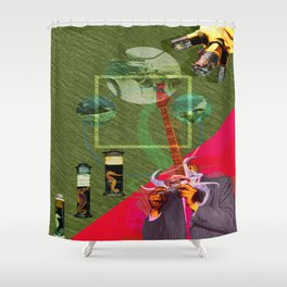 The Illuminated One Man Band Shower Curtain