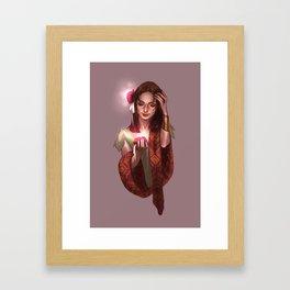 Vayu portrait Framed Art Print
