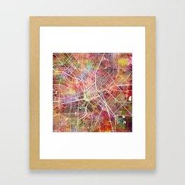 Dallas map 2 Framed Art Print
