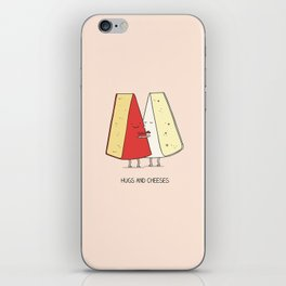 Hugs and cheeses iPhone Skin