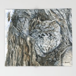 Camouflaged by Teresa Thompson Throw Blanket