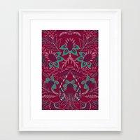 folk Framed Art Prints featuring Folk by Laura Braisher