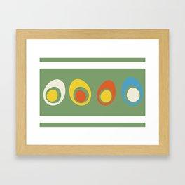 Vintage eggs Framed Art Print