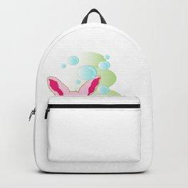 I Love Easter Eastern Bunny rabbit present gift Backpack