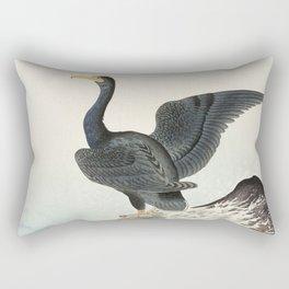 Cormorants at stormy sea - Japanese vintage woodblock print art Rectangular Pillow