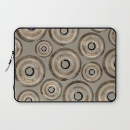 Enso Circles - Zen Circles Pastel Gold Laptop Sleeve