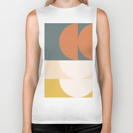 Abstract Geometric 02 Biker Tank