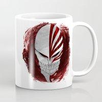 bleach Mugs featuring Bleach - Hollow by Bradley Bailey
