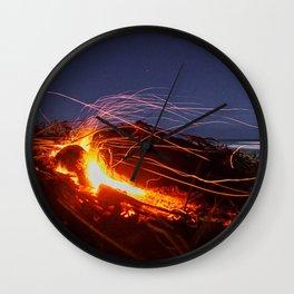 Pequeño Volcán Wall Clock