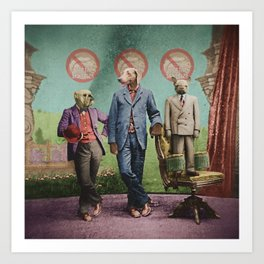 The Three Distinguished Members of the Committee to Handle the Squirrel Problem Art Print