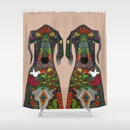 Great Dane love beige Shower Curtain