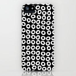 Grunge White Circles iPhone Case