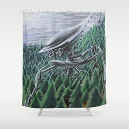 War of the Worlds Shower Curtain