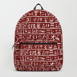 Egyptian Hieroglyphics // Burgundy Backpack