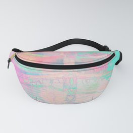 Totem Cabin Abstract - Pastel Fanny Pack
