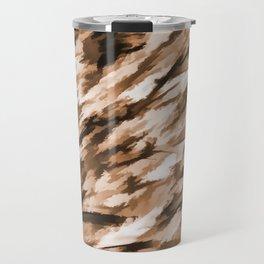 Beige Designer Camo Travel Mug