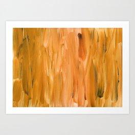 Burnt Orange Brush Strokes Art Print