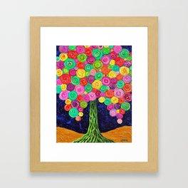 Lollipop Tree Framed Art Print