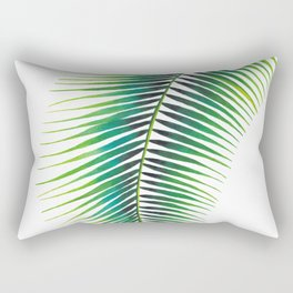 Tropical Palm Leaf #2 | Watercolor Painting Rectangular Pillow