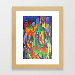 Buxom Nude Woman Splashed With Paint Framed Art Print