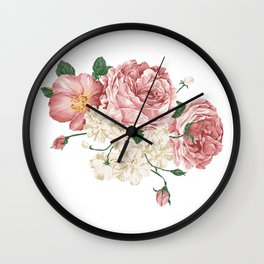 Watercolor rose Wall Clock