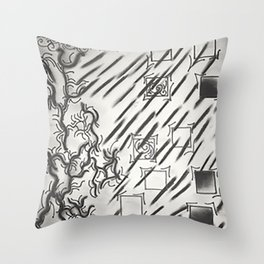 blood baths Throw Pillow