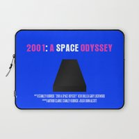 2001 a space odyssey Laptop Sleeves featuring 2001: A Space Odyssey Movie Poster by FunnyFaceArt