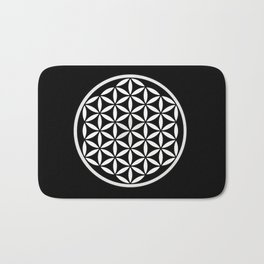Flower of Life Yin Yang Bath Mat
