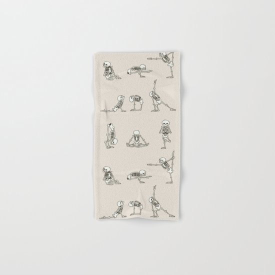 Skeleton Yoga Hand & Bath Towel