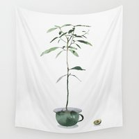 avocado Wall Tapestries featuring Avocado Tree by J Arell
