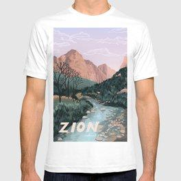 Zion National Park, Utah, USA Illustrated National Parks T-shirt