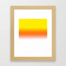 Yellow Orange and White Halloween Candy Corn Framed Art Print