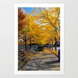 Autumn in NY Art Print
