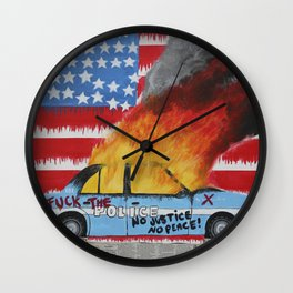 Fuck The Police Wall Clock