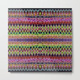 Stylized Stripes Metal Print
