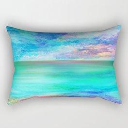 Ocean at Sunrise Rectangular Pillow