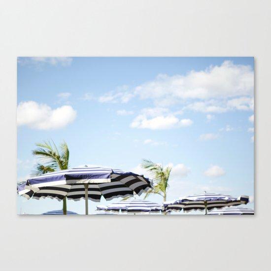Summer Umbrella Canvas Print