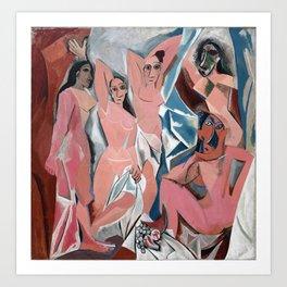 Pablo Picasso - Les Demoiselles d'Avignon 1907 - Artwork for Prints Posters Tshirts Men Women Kids Art Print