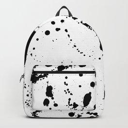 Seamless pattern. Black blots. Grunge background Backpack