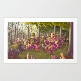 Forest Omnics Art Print