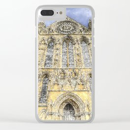 York Minster Cathedral Snow Art Clear iPhone Case