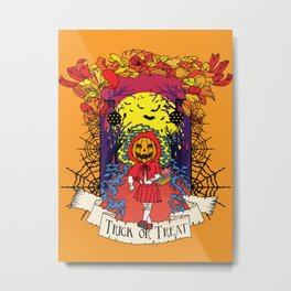 Jack o Red Riding Hood Metal Print