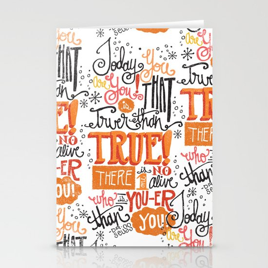 TODAY YOU ARE YOU... - DR. SEUSS Stationery Cards