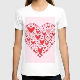 Love concept of hearts in the shape of a heart T-shirt