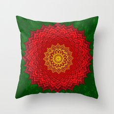 okshirahm rose mandala Throw Pillow
