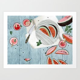 The Watermelon Season Art Print