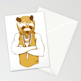 Bear - Panda - You're a Beast Stationery Cards
