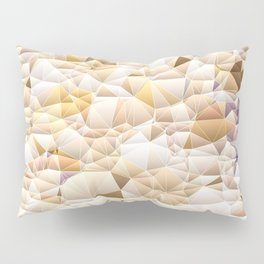 Neutral Tone Quilted Pattern Design Pillow Sham