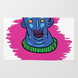 Blue Man Berry Rug